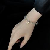 天然灰月光石手錬女冷淡風小眾設計水晶魚尾手串閨蜜森系生日禮物