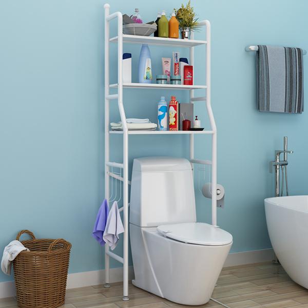 衛生間浴室置物架 免打孔廁所馬桶洗衣機置物架落地臉盆收納神器 快速出貨