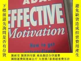 二手書博民逛書店JOHN罕見ADAIR:EFFECTIVE motivation