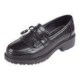 流蘇尖頭制服鞋jk學院風黑酒紅擦色皮鞋中跟女日系單鞋復古森女