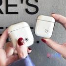 耳機套 簡約愛心airpods保護套透明硬殼新airpods2保護殼防摔蘋果無線充電盒【618大促銷】