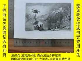 二手書博民逛書店【罕見】19世紀 銅 鋼版畫 單幅 GOAR AND RUINS