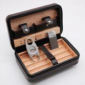 雪茄盒 雪茄保濕煙盒雪松木便攜式雪茄套雪茄剪打火機套裝