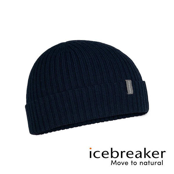 【icebreaker】Rixdorf Cuff美麗諾羊毛帽 JN『深藍』運動 柔軟 舒適 羊毛 吸濕 排汗 抑味 控溫 0A59LD