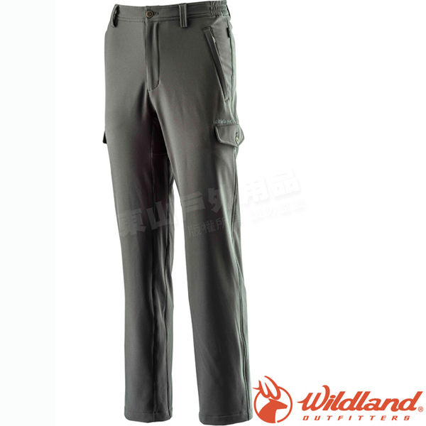 Wildland 荒野 0A22312-64深卡灰 男Softshell貼袋合身褲 保暖機能褲/戶外休閒長褲/防風透氣工作褲