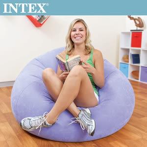 【INTEX】豆豆休閒充氣椅/懶骨頭椅-紫色(68569)