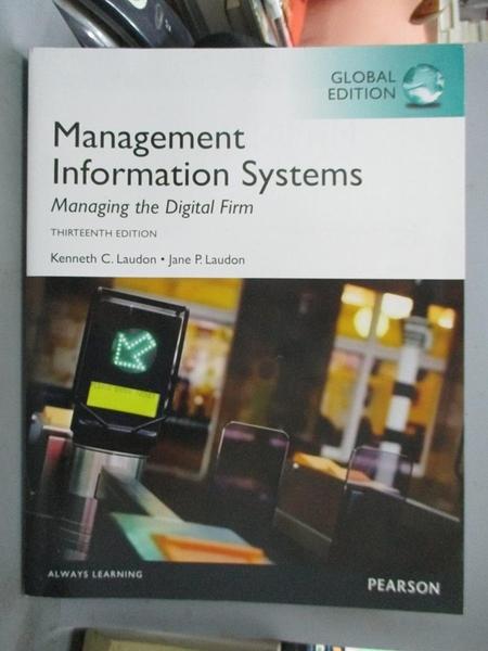 【書寶二手書T4/大學商學_FAU】Management Information Systems_Kenneth Laudon . Jane P. Laudon