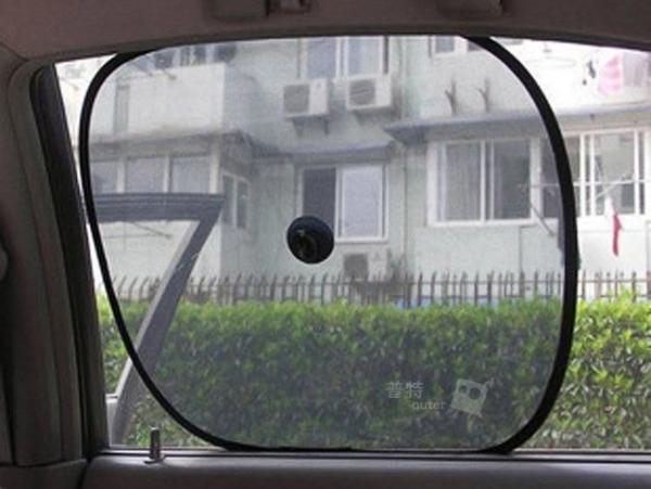 普特車旅精品【CV0050】2片裝 汽車側窗方形遮陽擋 車用吸盤式太陽擋 側擋遮陽板 隔熱板 遮陽簾
