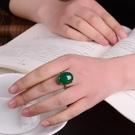 925銀女食指中指復古戒指  天然進口巴...