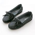 ☆W&G質感學院風*小羊皮氣質款超柔軟休閒鞋(經典黑)