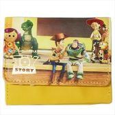 尼德斯Nydus 日本正版 迪士尼 玩具總動員 寫真系列 皮質 短皮夾 皮包 錢包