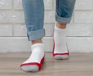 Nacaco 男款 抗菌氣墊短襪 - 三線紅 025M2000304