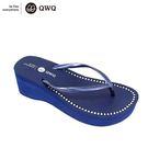 QWQ創意鞋-6CM 寶石藍 夾腳人字拖...