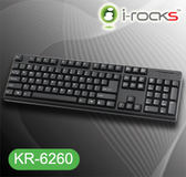 [PC PARTY] I-Rocks KR-6260 24鍵不衝突.速度每秒150個字元 6220G接班人