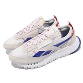Reebok 休閒鞋 CL Legacy 灰 藍 麂皮 經典款 Classic 男鞋 【ACS】 FZ2923