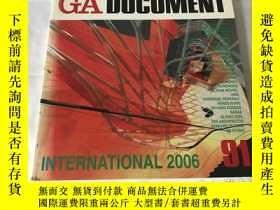 二手書博民逛書店GA罕見Document 91(英、日、雙語)Y8204 世界建築 世界建築