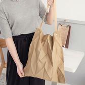 Poly Lulu 設計感立體壓摺手提肩背包-卡其【99410258】