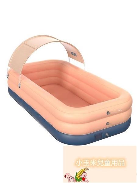 嬰兒童寶寶室內大型戶外加厚成人充氣游泳池家用折疊桶