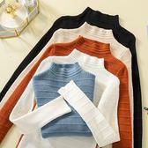 韓國韓系實拍新款半高領長袖針織打底衫女修身上衣包芯紗2F014.2231愛尚布衣