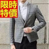 西裝外套 男西服(單外套)-保暖約會必備商務質感3色59t17[巴黎精品]