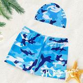 兒童泳衣 泳褲男童嬰幼兒游泳衣平角褲寶寶小孩泳裝中大童溫泉套裝