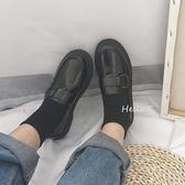 CHIC小皮鞋女2018新款韓版百搭學生復古樂福鞋英倫風原宿平底單鞋  koko時裝店