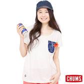 【CHACO 聯名系列】CHUMS 日本 女 休閒短袖T恤 淺原色/藍 CH181003W008