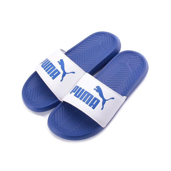 PUMA POPCAT 一片套式拖鞋 藍白 360265-41 男鞋 鞋全家福