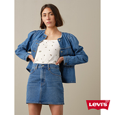 Levis 女款 復古學院風牛仔襯衫 / 修身中短版 / 可拆式雕花荷葉領