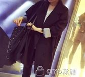 西裝外套春秋季新款韓版時尚氣質百搭雙排扣中長款長袖休閒小西裝外套女潮  ciyo黛雅