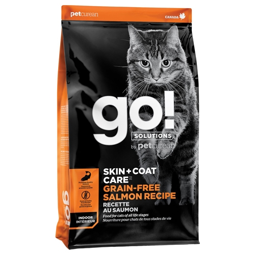 【寵物王國】Go!皮毛保健無穀系列 野生鮭魚 全貓配方16磅/7.2kg