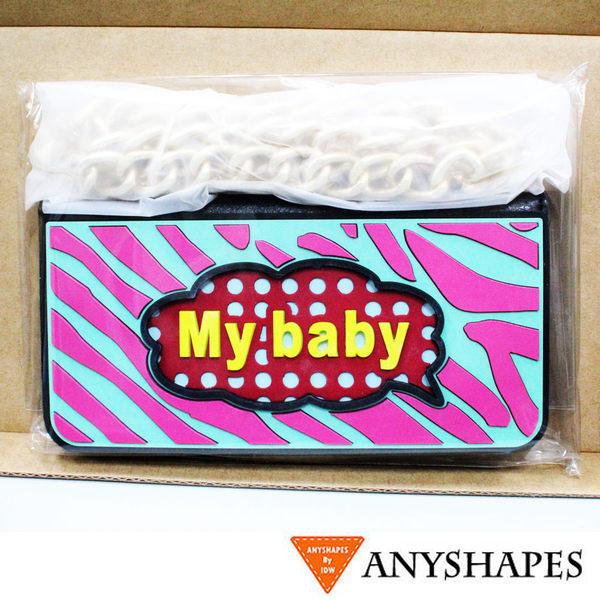 《現貨商品》Anyshapes-iPhone6/6s 4.7吋 WYC普普系列 斑馬瘋鍊條包-My baby