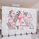 北歐客製 屏風 裝飾隔斷牆客廳酒店辦公室現代簡約折疊移動折屏布藝  降價兩天