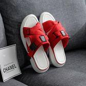涼拖鞋女夏新款時尚潮流居家用夏天厚底防滑軟底外穿平跟室內 草莓妞妞