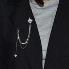 ins復古錬條流蘇星球胸針女氣質簡約西裝配飾別針大衣領針奢華風 韓美e站