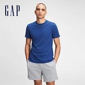 Gap男裝 棉質舒適圓領短袖T恤 530924-藍色
