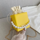 春夏小包包女2021新款潮時尚網紅洋氣流行百搭珍珠手提鍊條斜背包 童趣屋 免運