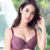 EASY SHOP-花戀綠野 大罩杯B-E罩內衣(咖啡紫)