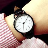 手錶女士學生韓版時尚潮流防水簡約夜光男錶皮帶女錶情侶手錶【米拉生活館】