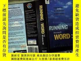 二手書博民逛書店RUNNING罕見Microsoft WORD for Wind