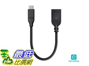 24288 Monoprice Essentials USB Type C USB-A Female 3.1 Gen 1 Extension Cable 5Gbps 3A 0.5ft _E17