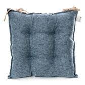 浮紋編織餐椅墊 43x43cm 藍
