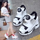 涼鞋 厚底鞋內增高涼鞋女新款新款網紅高跟運動鬆糕鞋百搭坡跟仙女風夏