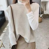 無袖簍空邊織羊毛背心 CC KOREA ~ Q24956