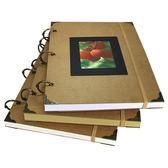 復古活頁素描本A4速寫本8K繪畫涂鴉本硬殼空白牛皮紙日記本圖畫本  易貨居