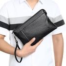 商務手拿包大容量手包 休閒男生包包韓版手拿包 軟皮信封包男士手機包 時尚夾包簡約潮流手抓包