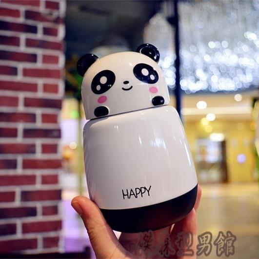 可愛小豬動物保溫杯便攜迷你卡通熊貓不銹鋼水杯學生兒童保暖水瓶 【舒困振興】