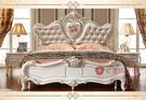[紅蘋果傢俱] E8801 歐式 法式 奢華 6尺 雙人床 床台 床架 現貨展示