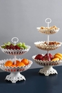 水果盤 創意現代客廳茶幾家用網紅北歐風格多層干果盆零食盤水果籃【快速出貨八折下殺】