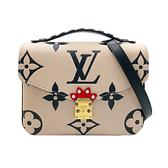 【台中米蘭站】全新品 Louis Vuitton Crafty Pochette MÉTIS 全皮手提斜背郵差包(M45384-米白)